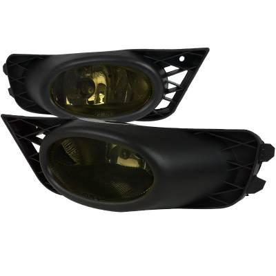 Headlights & Tail Lights - Fog Lights - Spec-D - Honda Civic 4DR Spec-D Fog Lights - Smoked - LF-CV094GOEM-RS