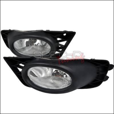 Headlights & Tail Lights - Fog Lights - Spec-D - Honda Civic 4DR Spec-D OEM Style Fog Lights - Clear - LF-CV094OEM