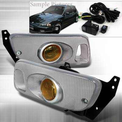 Headlights & Tail Lights - Fog Lights - Spec-D - Honda Civic Spec-D OEM - Yellow Fog Lights - Yellow - LF-CV923AMOEM