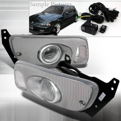 Headlights & Tail Lights - Fog Lights - Spec-D - Honda Civic 2DR Spec-D OEM Fog Lights - Clear - LF-CV923OEM