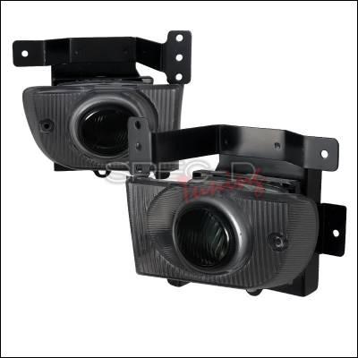 Headlights & Tail Lights - Fog Lights - Spec-D - Honda Civic 4DR Spec-D OEM Fog Light Kit - Smoke Lens - LF-CV924GOEM