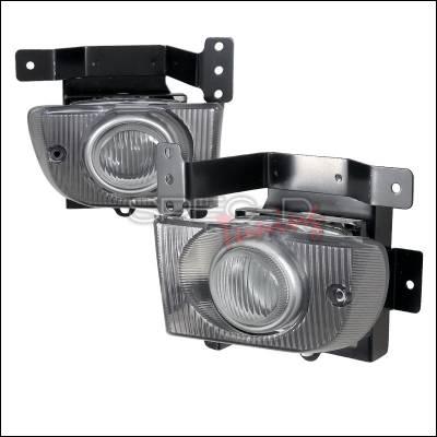 Headlights & Tail Lights - Fog Lights - Spec-D - Honda Civic 4DR Spec-D OEM Foglights Clear - LF-CV924OEM-DP