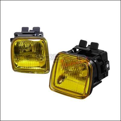 Headlights & Tail Lights - Fog Lights - Spec-D - Honda Civic 4DR Spec-D OEM Fog Lights - Yellow - LF-CV96AM-DP