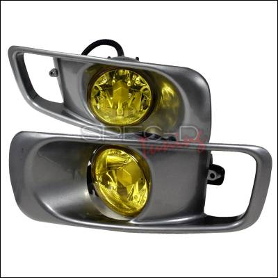 Headlights & Tail Lights - Fog Lights - Spec-D - Honda Civic Spec-D Fog Lights - Yellow - LF-CV99AM-DP