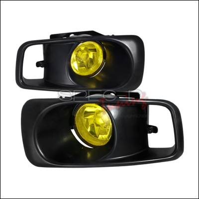 Headlights & Tail Lights - Fog Lights - Spec-D - Honda Civic Spec-D Fog Lights - Yellow - LF-CV99AMOEM