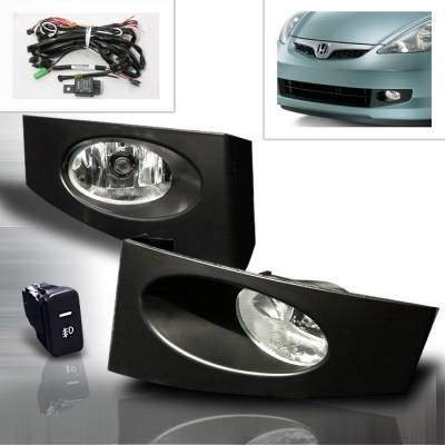 Headlights & Tail Lights - Fog Lights - Spec-D - Honda Fit Spec-D OEM Fog Lights - Clear - LF-FIT06OEM