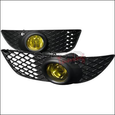 Headlights & Tail Lights - Fog Lights - Spec-D - Mitsubishi Lancer Spec-D OEM Style Fog Lights - Yellow - LF-LAN08AMOEM