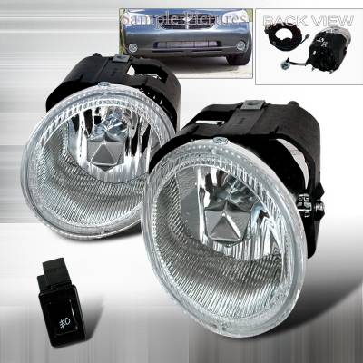 Headlights & Tail Lights - Fog Lights - Spec-D - Nissan Sentra Spec-D Fog Lights - Clear - LF-MAX00OEM
