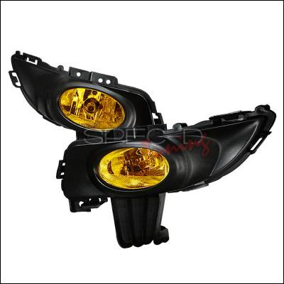 Headlights & Tail Lights - Fog Lights - Spec-D - Mazda 3 4DR Spec-D OEM Style Fog Lights Yellow - LF-MZ3034AMOEM