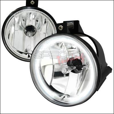 Headlights & Tail Lights - Fog Lights - Spec-D - Dodge Neon Spec-D CCFL Halo Fog Light Kit - Clear Lens - LF-NEO03C-V2-APC