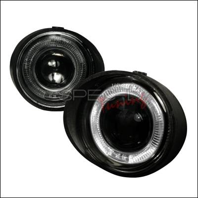 Headlights & Tail Lights - Fog Lights - Spec-D - Nissan Altima Spec-D Halo Projector Fog Lights - Smoke - LFP-ALT02HG-WJ