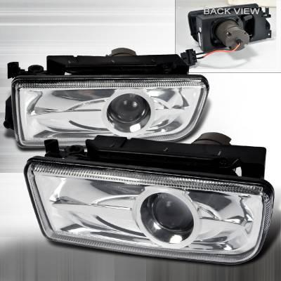 Headlights & Tail Lights - Fog Lights - Spec-D - BMW 3 Series Spec-D Projector Fog Lights - Clear - LFP-E3692