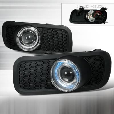 Headlights & Tail Lights - Fog Lights - Spec-D - Ford F150 Spec-D Halo Projector Fog Lights - Clear - LFP-F15004H-YL