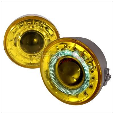 Headlights & Tail Lights - Fog Lights - Spec-D - Ford F150 Spec-D Projector Fog Lights - Yellow - LFP-F15006AM-WJ