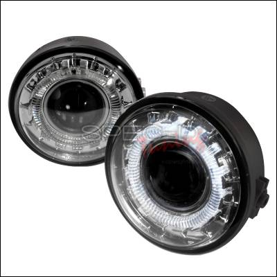 Headlights & Tail Lights - Fog Lights - Spec-D - Ford F150 Spec-D Halo Projector Fog Lights - Clear - LFP-F15006C-WJ