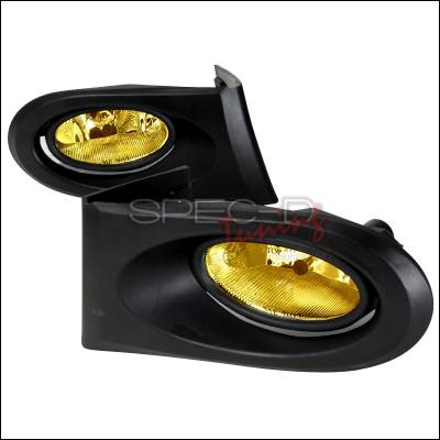 Headlights & Tail Lights - Fog Lights - Spec-D - Acura RSX Spec-D OEM Style Fog Lights - Yellow - LF-RSX02AMOEM