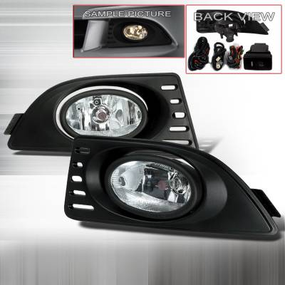 Headlights & Tail Lights - Fog Lights - Spec-D - Acura RSX Spec-D OEM Style Fog Lights - Clear - LF-RSX06OEM
