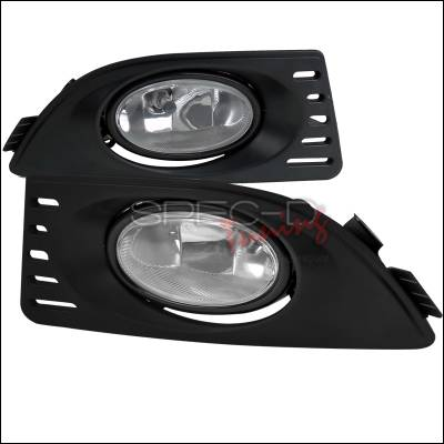 Headlights & Tail Lights - Fog Lights - Spec-D - Acura RSX Spec-D OEM Style - Clear Fog Light - LF-RSX06OEM-RS