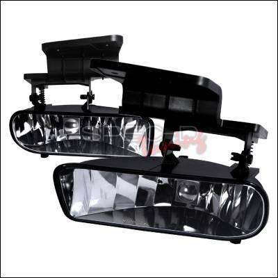 Headlights & Tail Lights - Fog Lights - Spec-D - Chevrolet Silverado Spec-D OEM Fog Lights - Clear - LF-SIV99COEM-APC