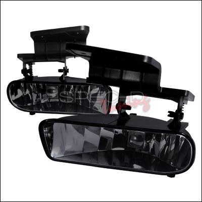 Headlights & Tail Lights - Fog Lights - Spec-D - Chevrolet Silverado Spec-D OEM Fog Lights - Smoke - LF-SIV99GOEM-APC