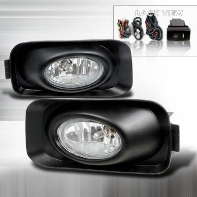 Headlights & Tail Lights - Fog Lights - Spec-D - Acura TSX Spec-D OEM Fog Lights - Clear - LF-TSX04OEM