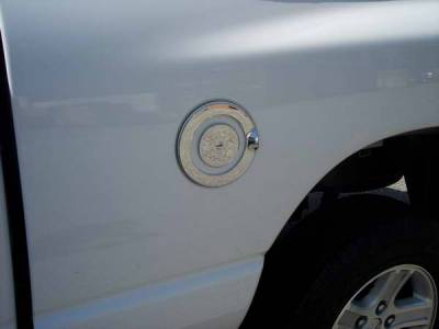 Accessories - Fuel Tank Caps - TFP - TFP Chrome ABS Fuel Door Insert Accent - 802