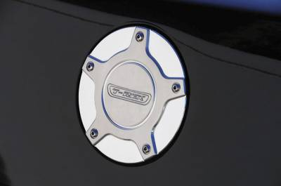 Accessories - Fuel Tank Covers - T-Rex - Chevrolet Camaro T-Rex T1 Series Billet Gas Door - Chrome - 120272