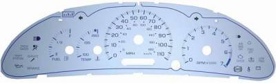 Car Interior - Gauges - US Speedo - US Speedo Exotic Color Red Gauge Face - Displays Tachometer - 110 MPH - 7000 RPM - CAV 03 02