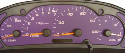 Car Interior - Gauges - US Speedo - US Speedo Purple Exotic Color Gauge Face - Displays MPH - Tachometer - SUN 03 04