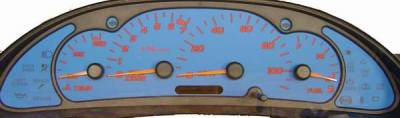 Car Interior - Gauges - US Speedo - US Speedo Blue Exotic Color Gauge Face - Displays MPH - Tachometer - SUN 03 05