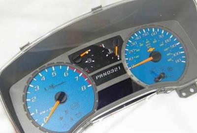 Car Interior - Gauges - US Speedo - US Speedo White Exotic Color Gauge Face - Displays MPH - Automatic - COL 05 10