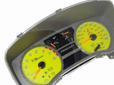 Car Interior - Gauges - US Speedo - US Speedo Silver Exotic Color Gauge Face - Displays MPH - Automatic - COL 05 12