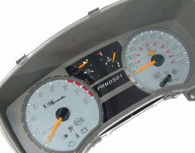 Car Interior - Gauges - US Speedo - US Speedo Yellow Exotic Color Gauge Face - Displays MPH - Automatic - COL 05 13