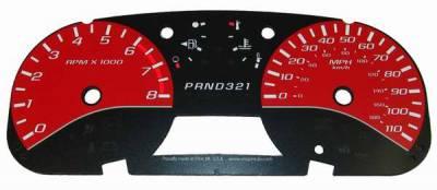 Car Interior - Gauges - US Speedo - US Speedo Red Exotic Color Gauge Face - Displays MPH - Automatic - COL 05 15