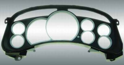 Car Interior - Gauges - US Speedo - US Speedo Escalade Lens Satin Gauge Rings - LEN 021
