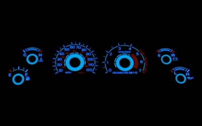 Car Interior - Gauges - Stack Racing - Ford Mustang Stack Racing White Face Reverse Glow Gauges - 52010