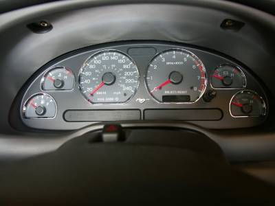 Car Interior - Gauges - Stack Racing - Ford Mustang Stack Racing Chrome Gauge Rings - 99015