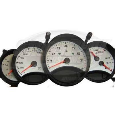 Car Interior - Gauges - US Speedo - US Speedo Stainless Steel Gauge Face - 5PC - Displays 175 MPH - 9110202