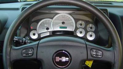 Car Interior - Gauges - US Speedo - US Speedo Stainless Steel Gauge Face with White Back and Color Match Needles - Displays 120 MPH - Transmission Temperature - SS H2 01W