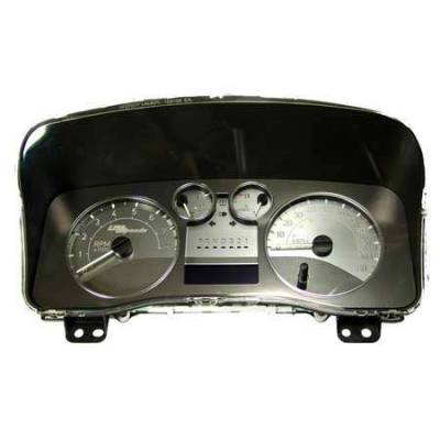Car Interior - Gauges - US Speedo - US Speedo Stainless Steel Gauge Face with Blue Back without Needles - Displays MPH - SS H3 11B