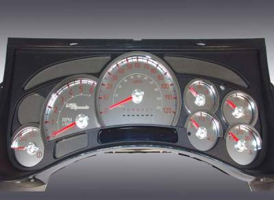 Car Interior - Gauges - US Speedo - US Speedo Stainless Steel Gauge Face with Red Back and Color Match Needles - Displays 120 MPH - Transmission Temperature - SS H2 11R