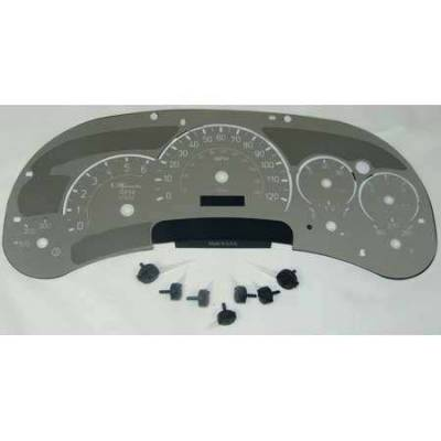 Car Interior - Gauges - US Speedo - US Speedo Stainless Steel Gauge Face with White Back and Color Match Needles - Displays 120 MPH - Transmission Temperature - SS H2 11W
