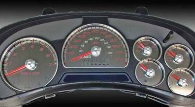 Car Interior - Gauges - US Speedo - US Speedo Stainless Steel Gauge Face with Red Back - SS GM 21R