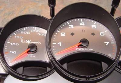 Car Interior - Gauges - US Speedo - US Speedo Stainless Steel Gauge Face - 5PC - Displays 300 MPH - 9969901K