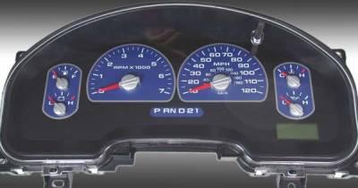Car Interior - Gauges - US Speedo - US Speedo Blue Exotic Color Gauge Face - Displays MPH - XLT 04 BL
