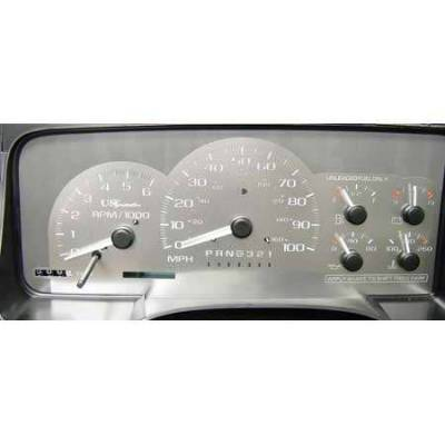 Car Interior - Gauges - US Speedo - US Speedo Stainless Steel Gauge Face - Displays 110 MPH - Analog - CK1009901