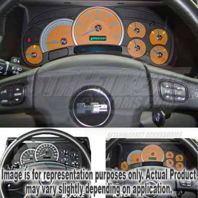 Car Interior - Gauges - US Speedo - US Speedo Orange Exotic Color Gauge Face - Displays 120 MPH - Gas - No Transmission Temperature - CK1200436
