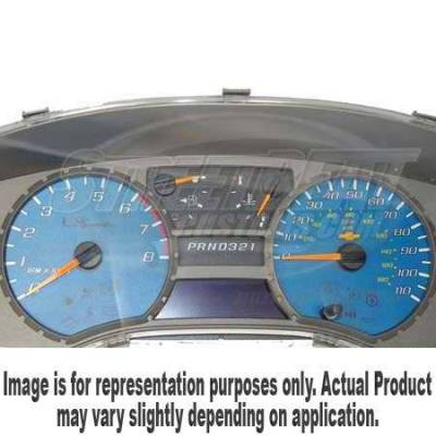 Car Interior - Gauges - US Speedo - US Speedo Blue Exotic Color Gauge Face - Displays 200KPH - Gas - No Transmission Temperature - CK2000434