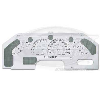 Car Interior - Gauges - US Speedo - US Speedo Stainless Steel Gauge Face with Message Center - Displays KPH - EXP0301K