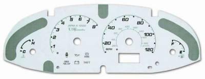 Car Interior - Gauges - US Speedo - US Speedo Stainless Steel Gauge Face - Displays MPH - EXS0401